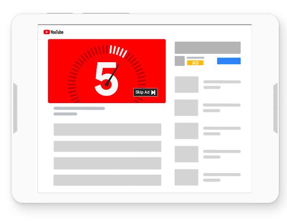 Медийная видео реклама на Youtube с возможность пропустить через 5 секунд